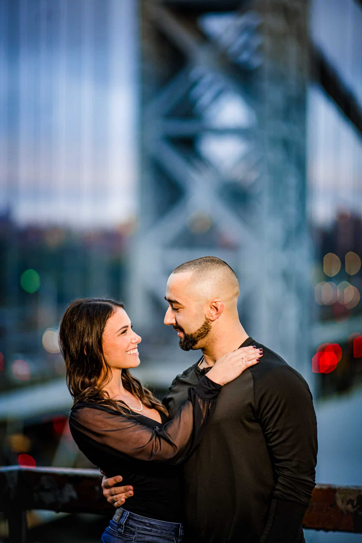 Engagement Photos near the George Washington Bridge