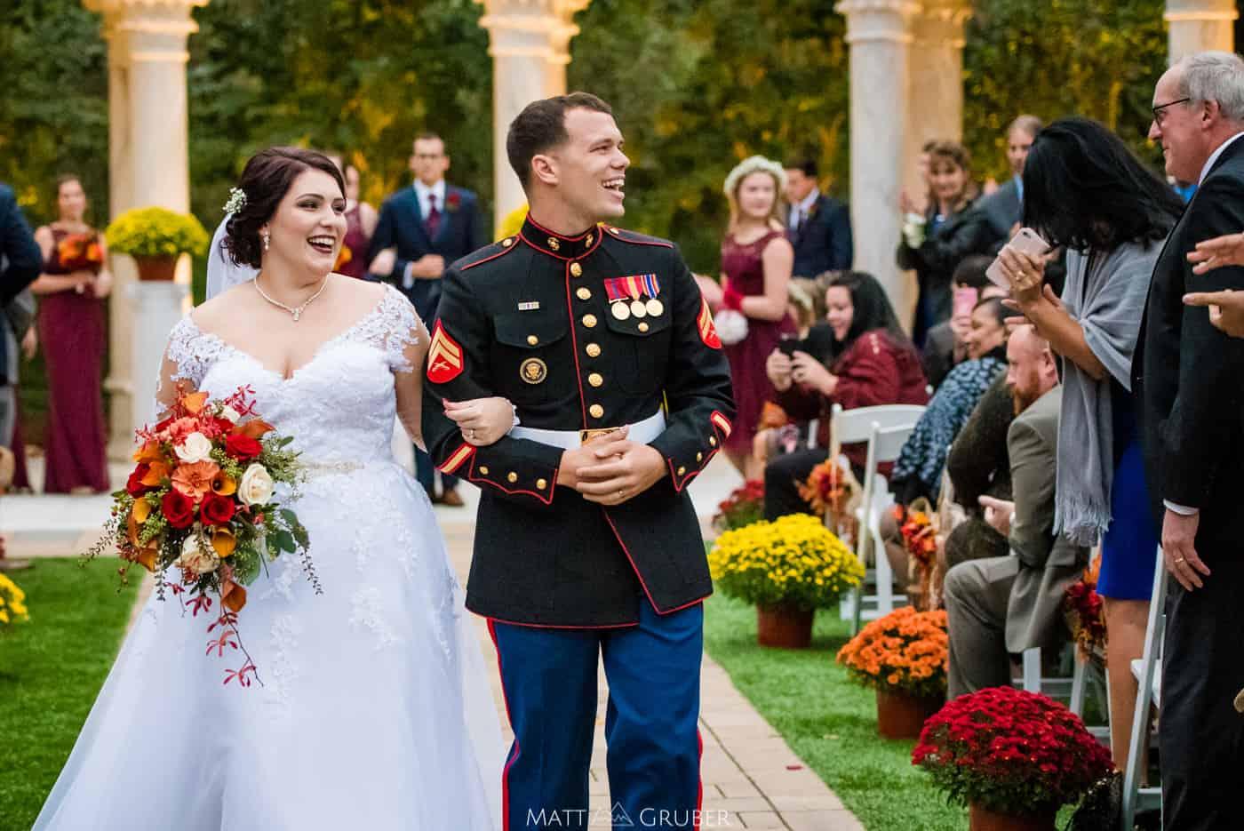 the waterfall de wedding photos