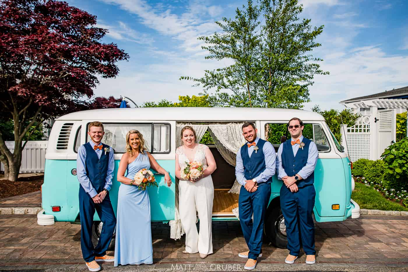 vw bus wedding photos