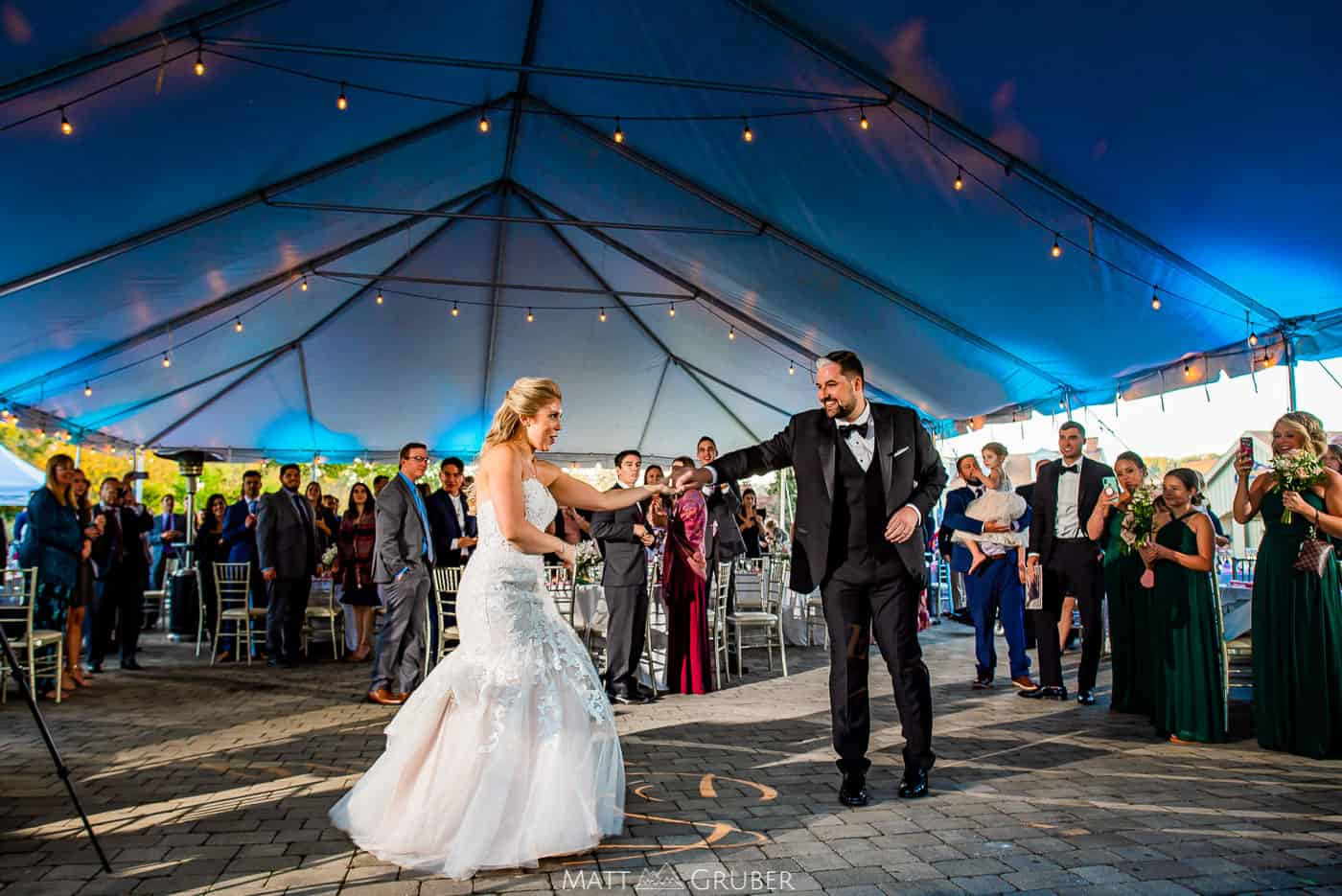 Downingtown Country Club Wedding Outdoor Tent