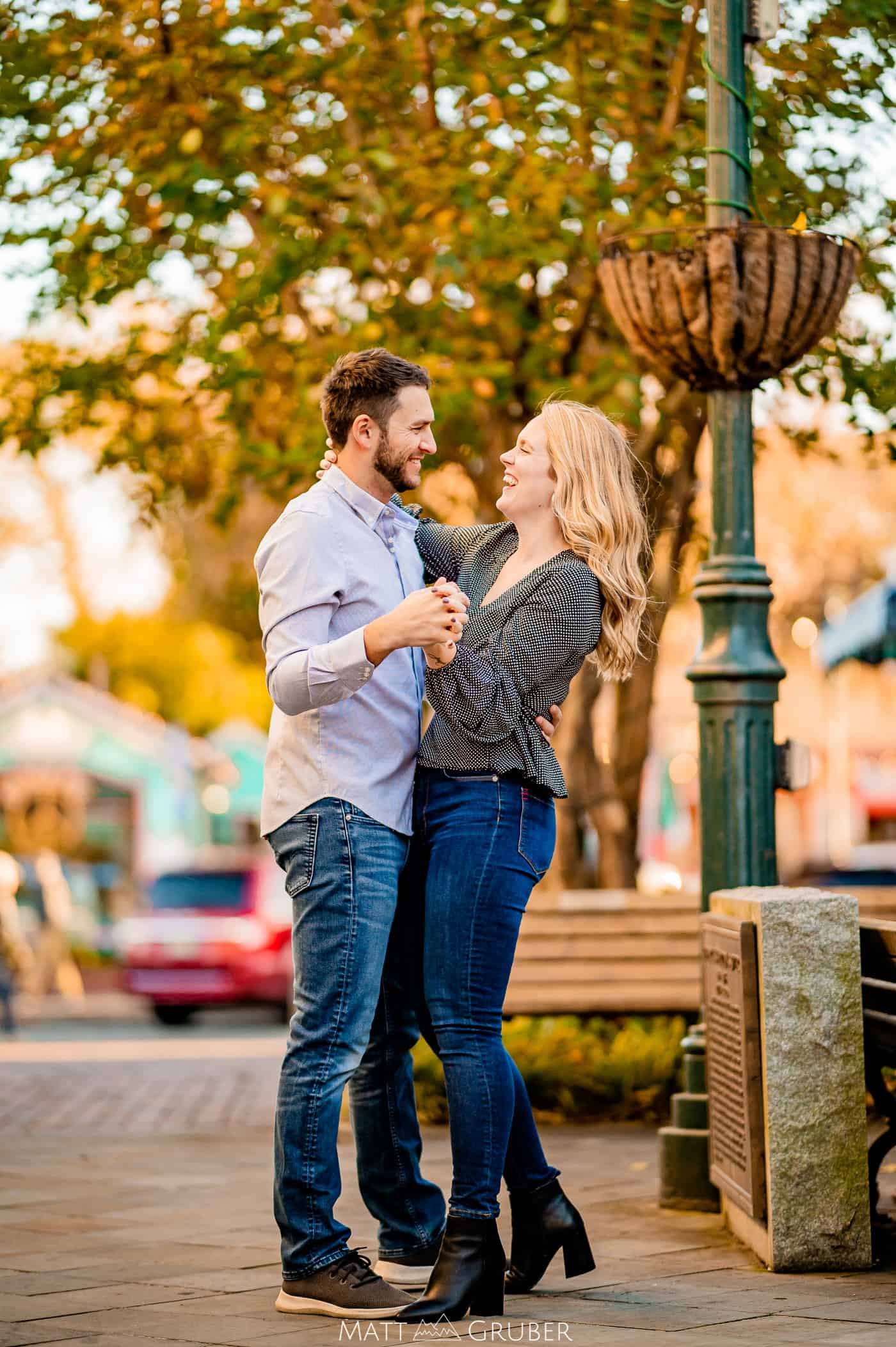 Engagement Photos at Washington Street Mall in Cape May, New Jersey