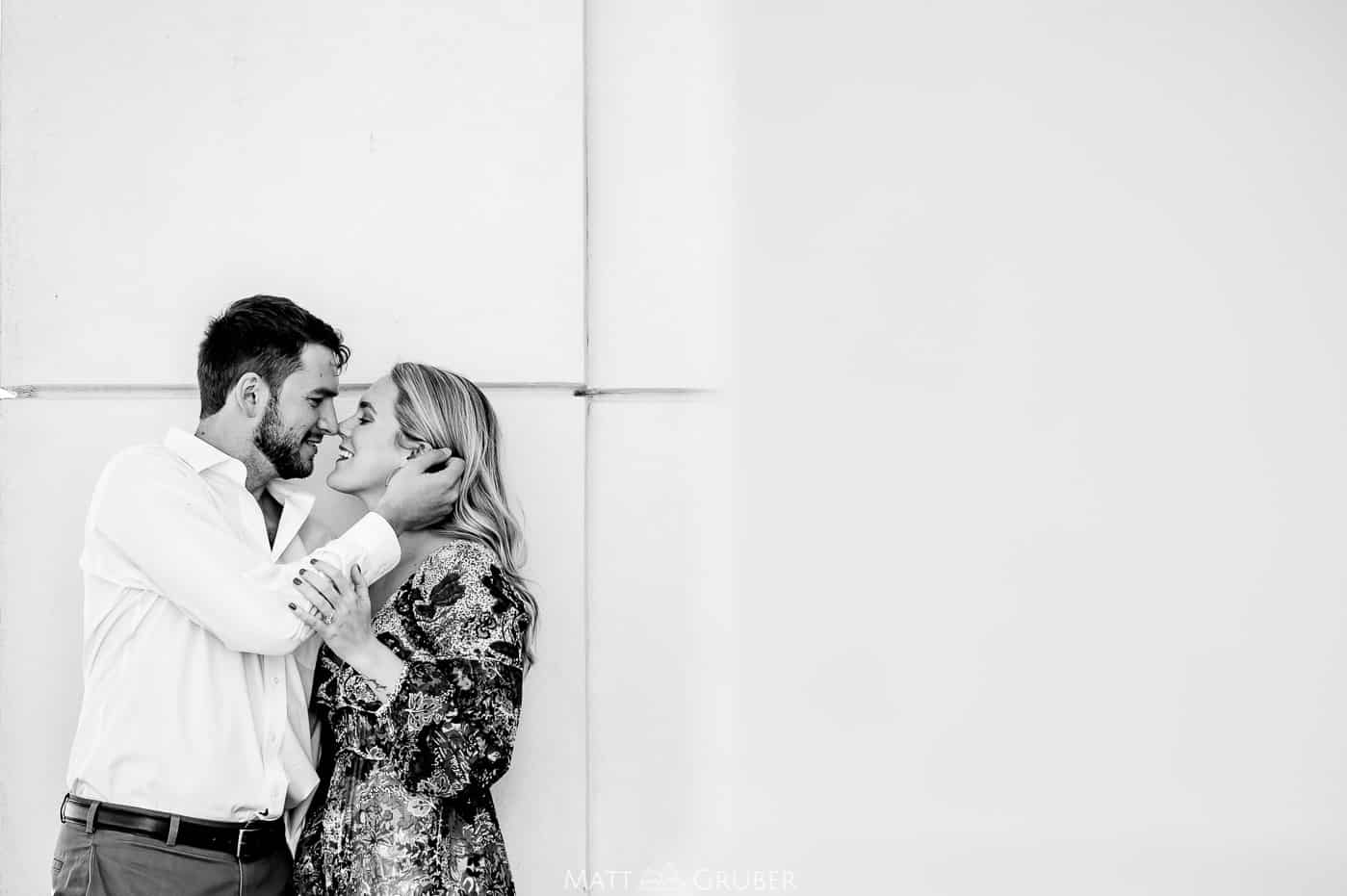 Romantic Engagement Photos at Convention Hall in Cape May, New Jersey