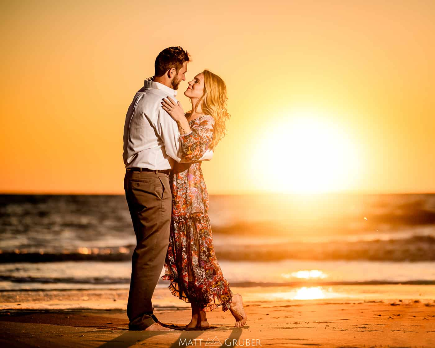 Sunset Engagement Photos at Cape May Point