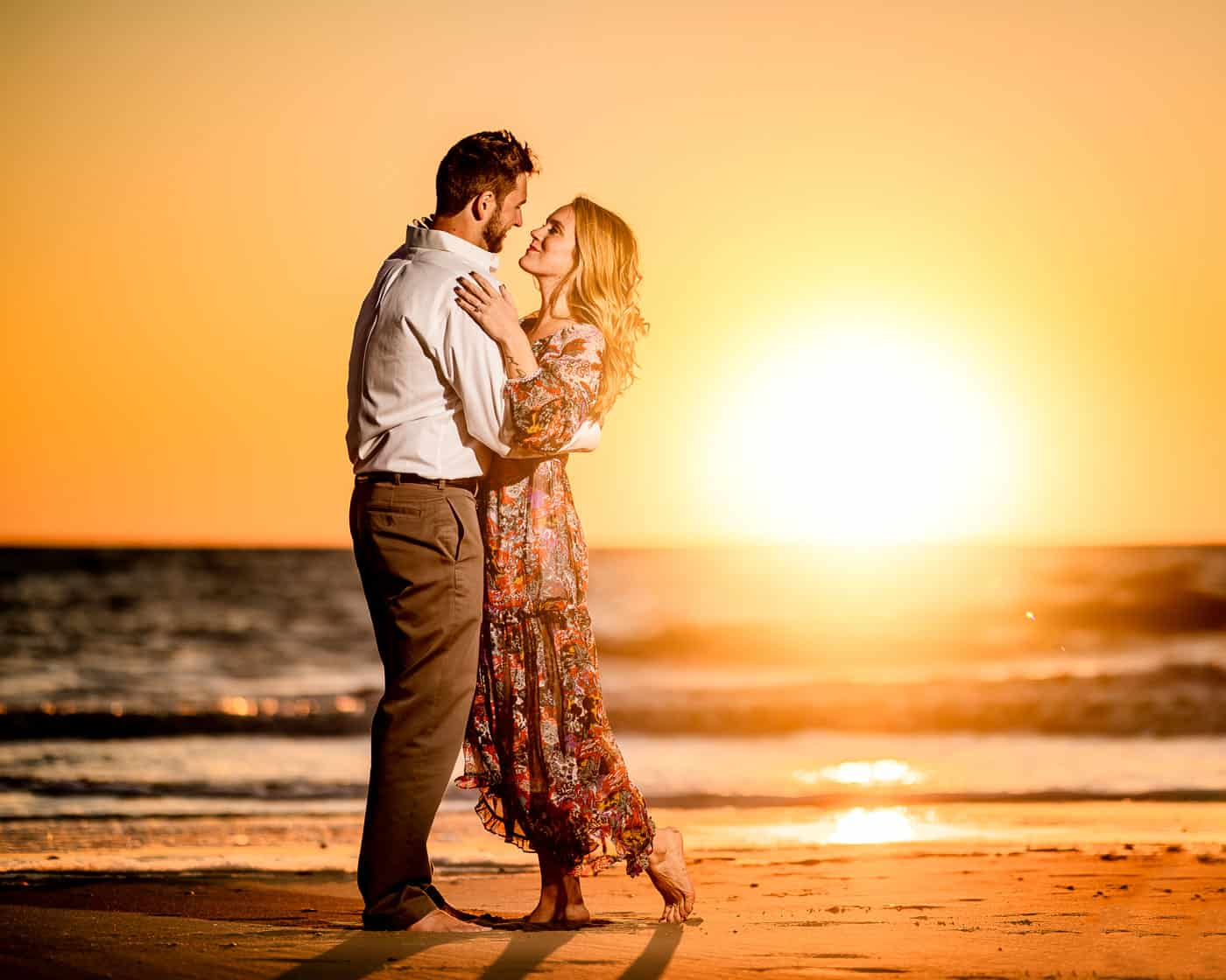 Sunset Engagement Session at Cape May Point