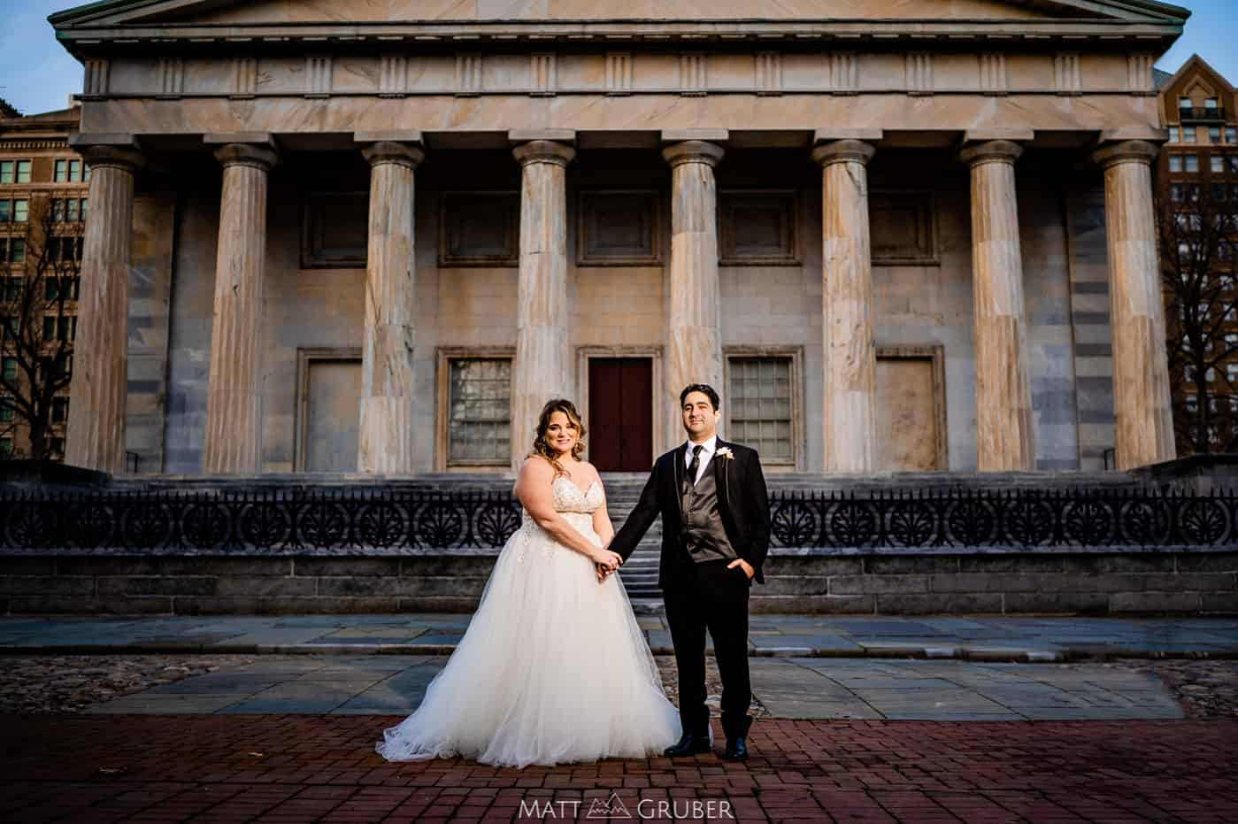 Wedding Photos at 2nd Bank Philadelphia in January 2021