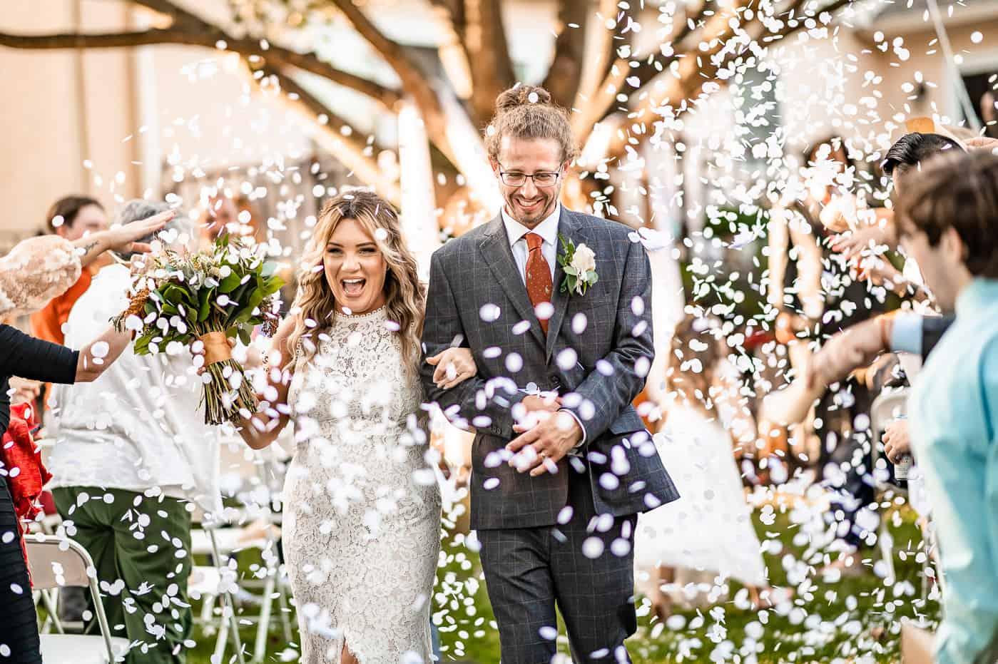 biodegradable confetti wedding